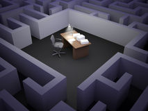 Office maze Stock Photography