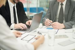 Office Meeting Close Up royalty free stock photo