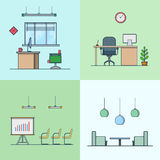 Office meeting conference room table chair armchai Stock Photography