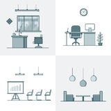 Office meeting conference room table chair armchai Royalty Free Stock Photo