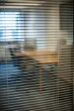 Office meeting room, door glass. Stock Photo
