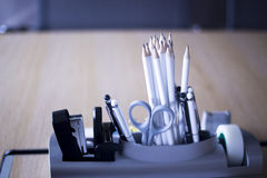 Office meeting room pencils Royalty Free Stock Images
