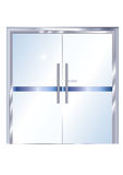 Office metallic glass door - vector Stock Image