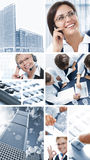 Office mix. Business  theme  photo collage composed of different images Stock Image