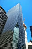 Office modern buildings. Modern office buildings in New York over blue sky Royalty Free Stock Photo