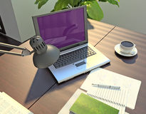 The office. Modern business workspace. Royalty Free Stock Photo