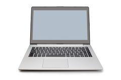Office modern laptop  on white. Royalty Free Stock Photo