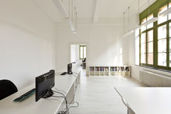 Office with modern white furniture Royalty Free Stock Photo