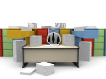 Office Moments - Endless Paperwork Stock Photo