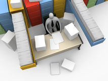 Office Moments - Endless Paperwork Royalty Free Stock Images