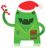 Office Monster in Christmas Outfit Royalty Free Stock Photography