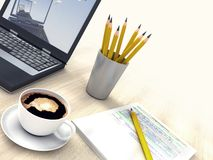 Office in the morning Royalty Free Stock Photography