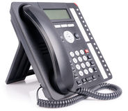 Office multi-button IP telephone Stock Photos