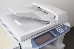 Office multifunction printer or copy machine isolated Stock Photo
