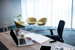 Office with multimedia tools and no people Royalty Free Stock Photos