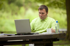 Office in nature Stock Photography