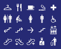 Office navigation pictograms Stock Photography