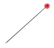 Office needle with a red hat Royalty Free Stock Image
