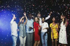 Office new year party. Young people having fun Royalty Free Stock Photo