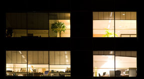 Office at night Royalty Free Stock Photos