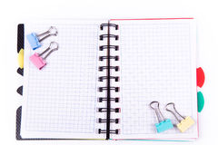 Office notebook. Back to school concept. Post it note. Royalty Free Stock Photo