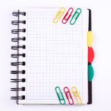 Office notebook. Back to school concept. Post it note. Stock Photos