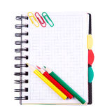 Office notebook. Back to school concept. Post it note. Stock Images
