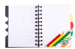 Office notebook. Back to school concept. Post it note. Royalty Free Stock Photography