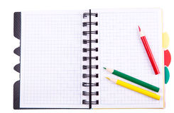 Office notebook. Back to school concept. Post it note. Royalty Free Stock Photos