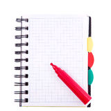 Office notebook. Back to school concept. Post it note. Royalty Free Stock Images