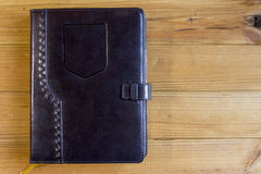 Office notebook with leather cover Stock Photo
