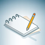 Office Notebook & Pen Stock Photos