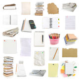 Office notebooks and pegs collection stock photos