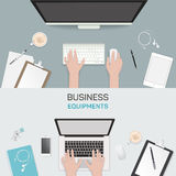 Office object business activity flat vector. Office object business activity, flat vector illustration, freelance Royalty Free Stock Image