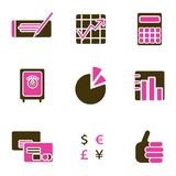 Office object icon set Royalty Free Stock Photo