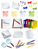 Office object set Royalty Free Stock Image