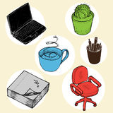 Office objects Royalty Free Stock Image