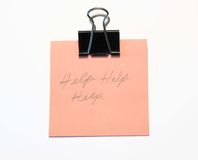 Office objects. Binder clip and note pad Royalty Free Stock Photography