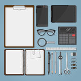 Office objects set Stock Photo