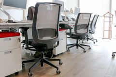 Office and Office Chairs. For confort Royalty Free Stock Photography