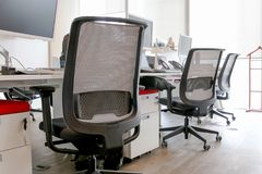 Office and Office Chairs. For confort Royalty Free Stock Image