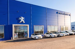 Office of official dealer Peugeot . Stock Image