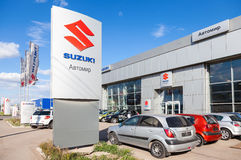 Office of official dealer Suzuki. Suzuki Motor Corporation is a Royalty Free Stock Photo