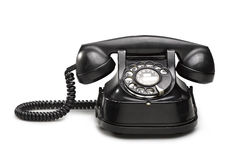 Office: old and vintage telephone Black Royalty Free Stock Images