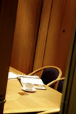 Office with open book. Law Office with open book and coffee Royalty Free Stock Photography