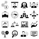 Office and organization icons Stock Photo