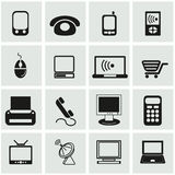 Office and organization icons set Stock Photo