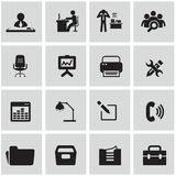 Office and organization icons set Royalty Free Stock Photo
