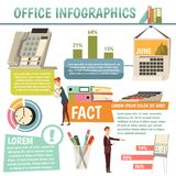 Office Orthogonal Infographics Stock Photography