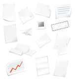 Office paper. Postal and office paper collection Stock Illustration